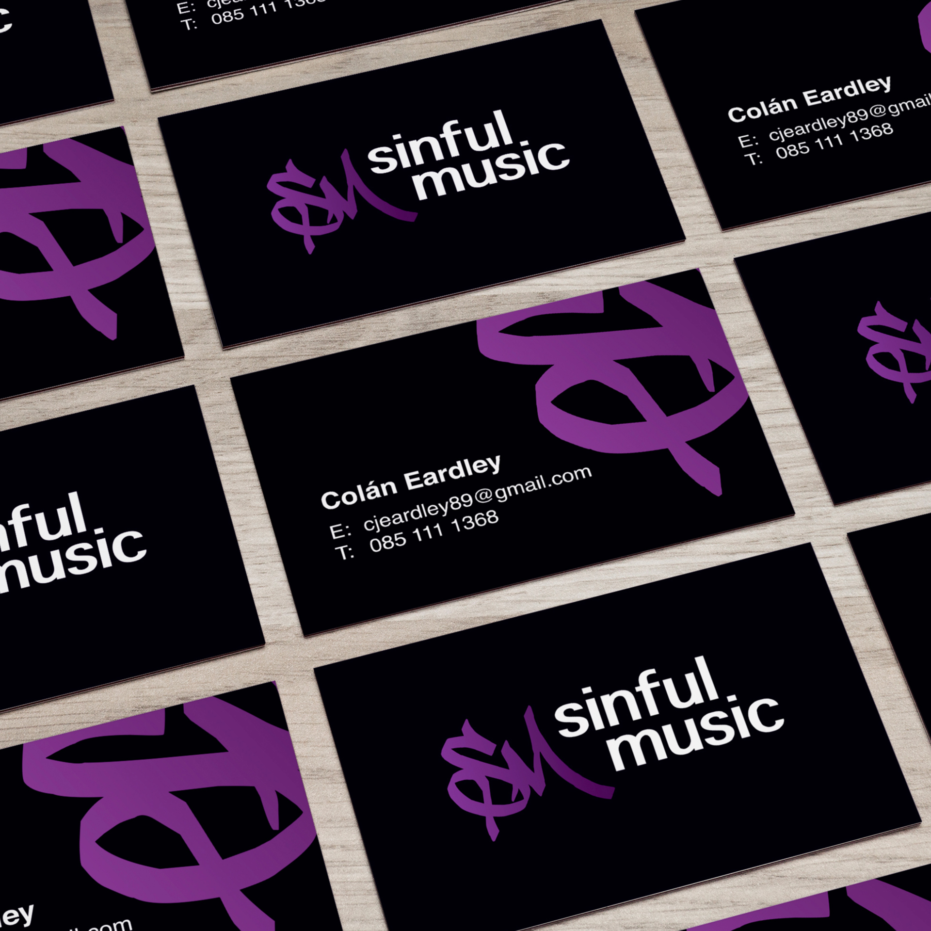 Sinful Music Logo Design Bobby Mitchell Graphic Design